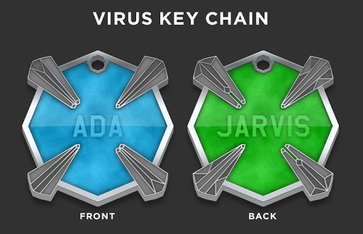 Virus Key Chain2